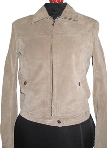 Theory Beige Leather Jacket
