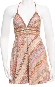 Missoni short dress Beige, Purple Cover Up Chiffon Halter Striped on Tradesy