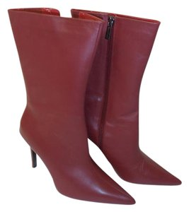 Colin Stuart Leather Mid-calf Boot red Boots