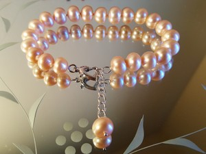 Blush Pale Pink Bridal Bracelet