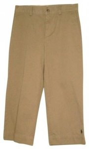 Ralph Lauren Chino Polo Logo Pony Trousers Capris Khaki
