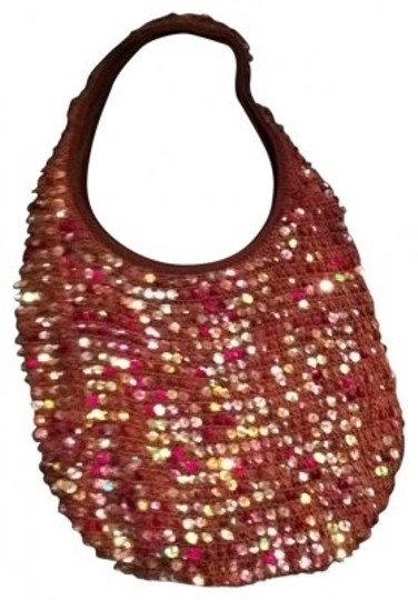 Preload https://item2.tradesy.com/images/lilu-arm-candy-sac-hobo-prom-boho-bling-wedding-purse-tote-brown-pink-crochet-sequin-shoulder-bag-177896-0-0.jpg?width=440&height=440