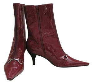BCBGeneration Patent Leather Red Boots