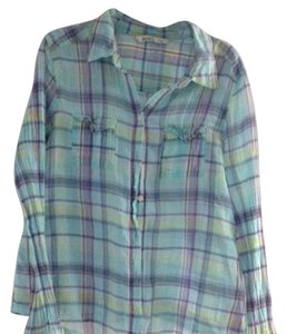 Old Navy Button Down Shirt Multi plaid