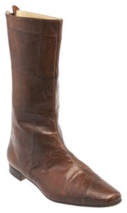 Manolo Blahnik Ankle Brown Boots