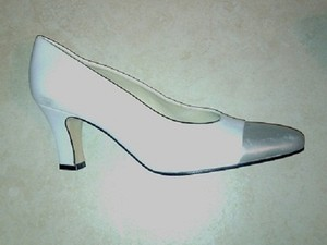 Etienne Aigner Face Leathert Free Shipping White & Silver Pumps