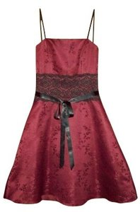 Urban Girl Nites Party Prom Strapless Lace Trim Dress