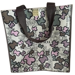 TOUS Tote in Grey/Pink/Brown