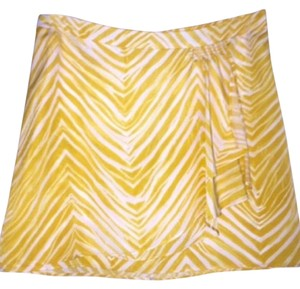 BCBGMAXAZRIA Mini Skirt Yellow/White