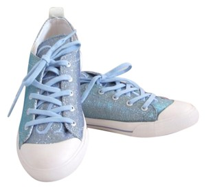Guess Shimmer Glitter Light Blue Flats