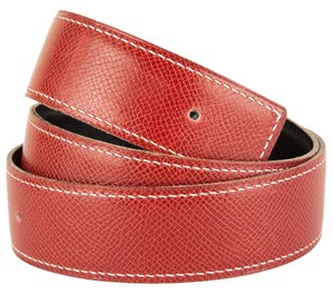 Hermès Dark Red and Navy Reversible Belt Strap