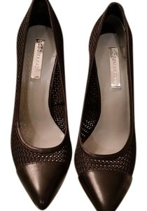 BCBGMAXAZRIA Kassia Bcbg Bcbg black leather and mesh Pumps