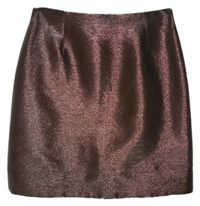 Ralph Lauren Black Label Metallic Pencil Sheen Skirt