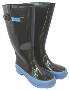 Marc Jacobs Black Rubber Rain Boots