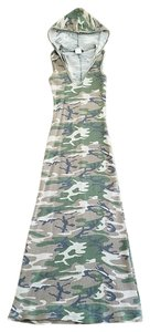 Camouflage Maxi Dress by Wet Seal Hooded Maxi