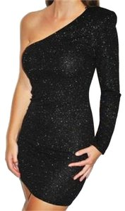 Brian Lichtenberg Black One Brand New Without Tags Never Worn Nwot Glitter Party Club Sexy Dress