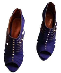 SCHUTZ Bootie royal blue Platforms