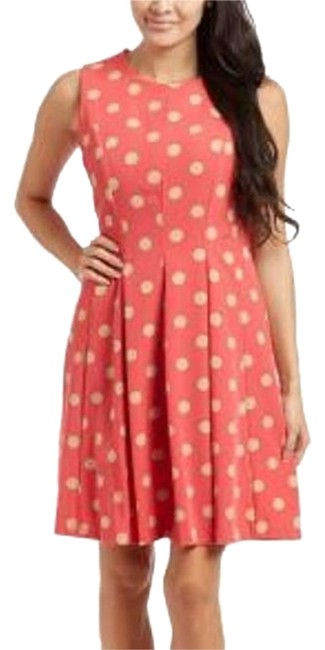 Item - Coral Beige Above Knee Work/Office Dress Size 8 (M)