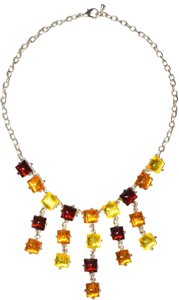 Other Rainbow Resin 24kt-Gold Plated Jeweled Resin Chain Link Necklace