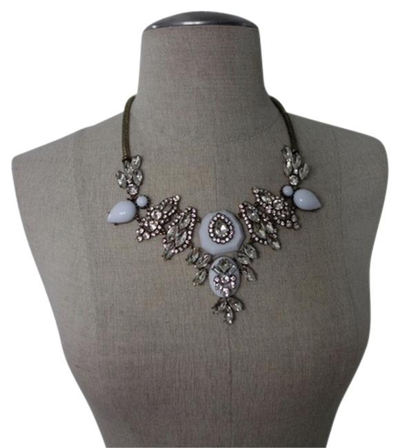 Item - White Dreaming In Milan Statment Necklace
