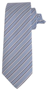 Gucci NEW Gucci Men's 336398 Blue Cotton and Silk Blend Striped Neck Tie