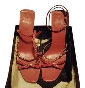 Gucci Strappy Snakeskin strawberry Sandals
