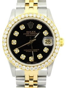 Rolex 31MM ROLEX DATEJUST 2CT DIAMOND WATCH WITH ROLEX BOX & APPRAISAL