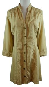 Soft Surroundings Snap Front Jacket Shirt Khaki Tunic