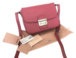 Miu Miu Madras Leather Handbag Cross Body Bag