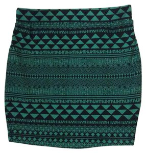 Sparkle & Fade Mini Skirt Black, Green
