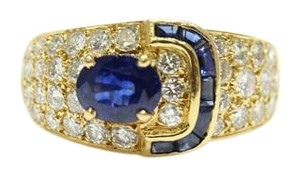 Van Cleef & Arpels Vintage Van Cleef and Arpels Sapphire and Diamond Buckle Ring
