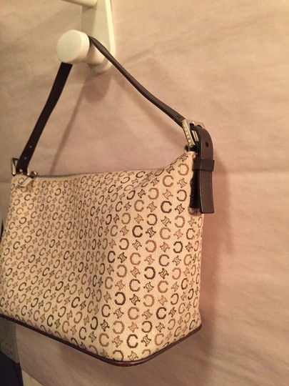 Céline Near Mint Logo Canvas Signature Classic Roomy Hobo Bag Image 4
