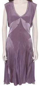 Zac Posen Cocktail Silk Mauve Satin Dress