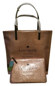 Kate Spade Tote in SPARKLE ROSE GOLD