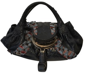 Fendi Limited Edition Beaded Spy Satchel in Black
