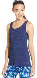 Ideology Ideology Twisted-Strap Open Back Striped Tank Top Navy Serenity XL
