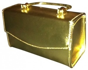 Purse Satchel in gold metallic