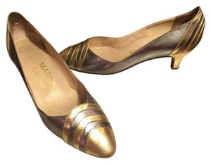MARIO OF FLORENCE Gold/Silver Pumps