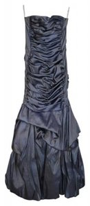 Jessica McClintock Metallic Stretchy Linen Dress
