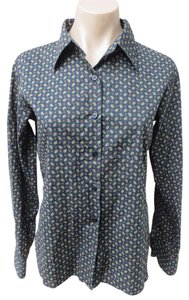 agnès b. Agnes B Shirt Foulard Print Button Down Shirt Black
