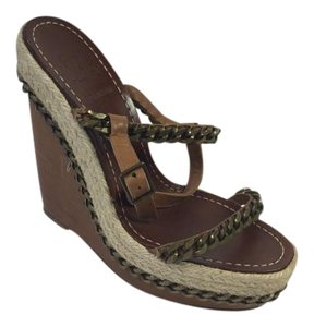 Christian Louboutin Macarena Brown Wedges