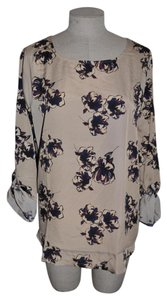 Ann Taylor Floral Casual Resort Top