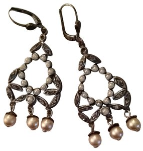 La Vie Parisienne Pearl And Crystal Vintage Style Earrings