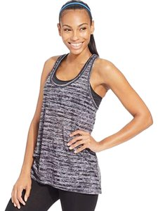 Ideology Ideology T-Back Burnout Tank Top Black/Grey Stripe S New without tags