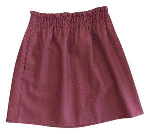 J.Crew Mini Skirt Rust red