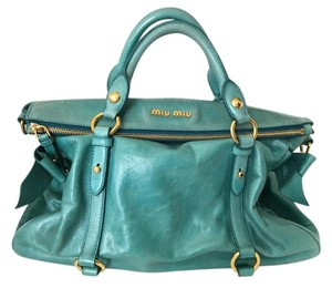 Miu Miu Leather Vitellolux Cross Body Bag