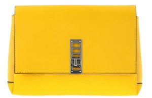 Proenza Schouler Leather New Yellow Clutch