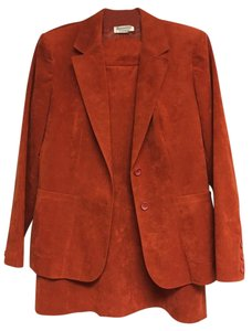 Lilly Ann Suede Skirt Suit Like New Size 12