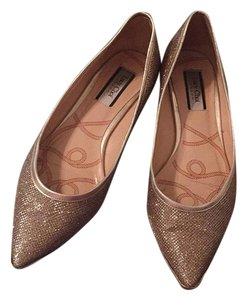 Lucy choi Gold Flats