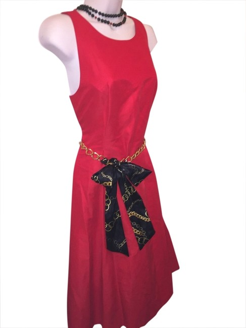 Kate Spade Red Fit and Flare Mid-length Cocktail Dress Size 10 (M) Kate Spade Red Fit and Flare Mid-length Cocktail Dress Size 10 (M) Image 1